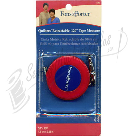 Fons & Porter Quilters Retractable Measuring Tape 120""