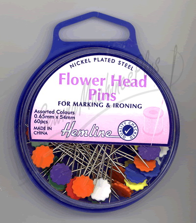 Hemline Flower Head Pins - 40030214
