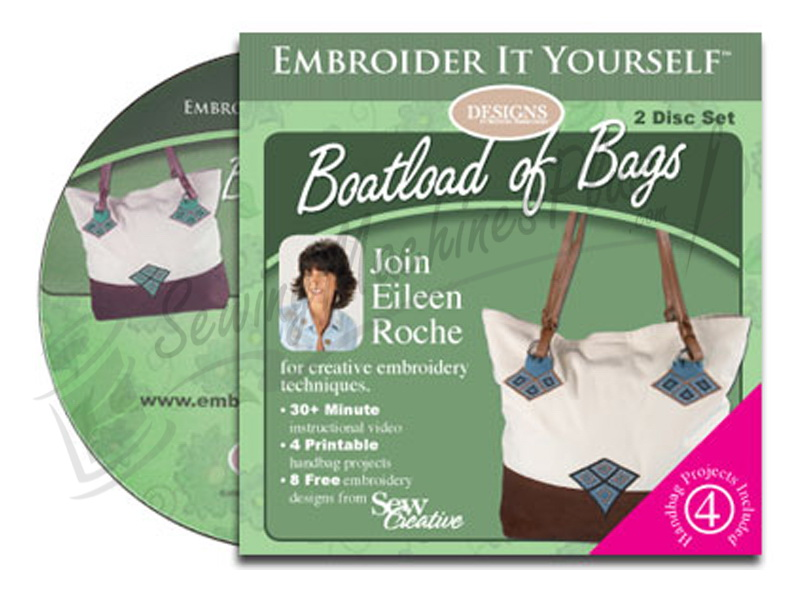 Designs Embroider it Yourself Video Boatload Bags (CD00400)
