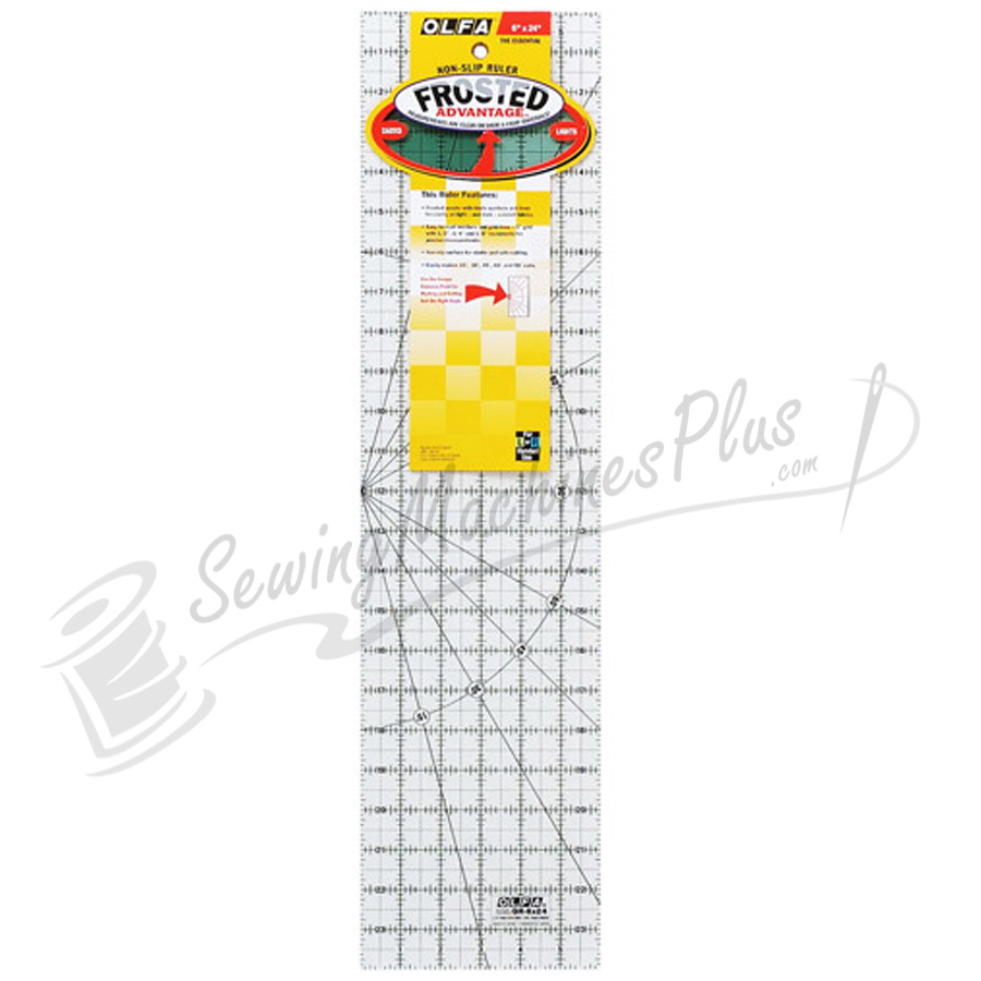 OLFA 6 inch x 24 inch Frosted Ruler (OQR624)