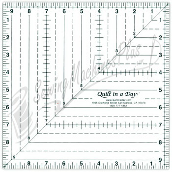 Quilt in a Day Square Up Ruler 9.5""