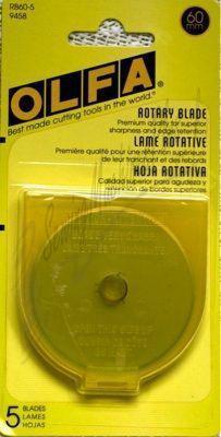 OLFA 60mm Rotary Blade 5pc RB60-5
