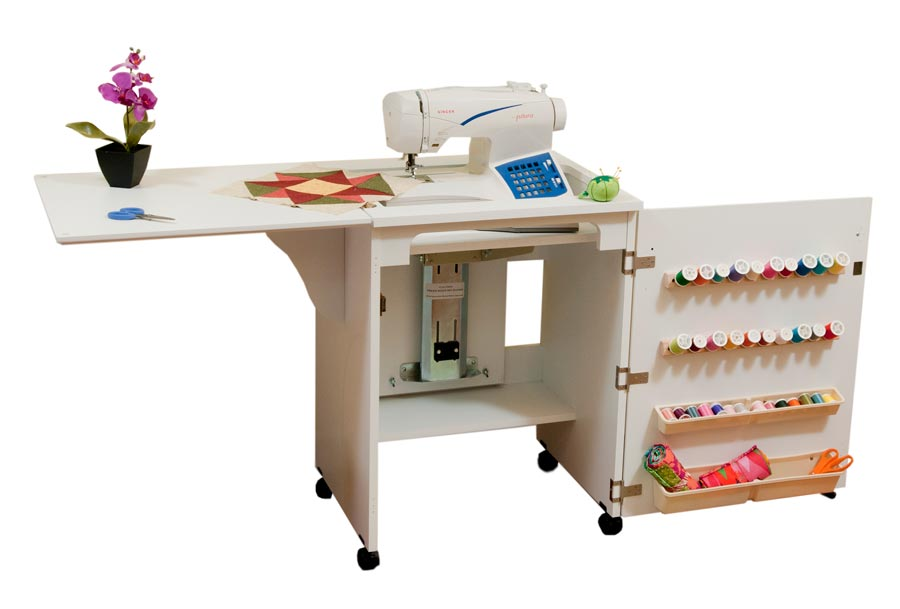 Wonderful Arrow 98501 Sewnatra Compact Sewing Cabinet   White Finish