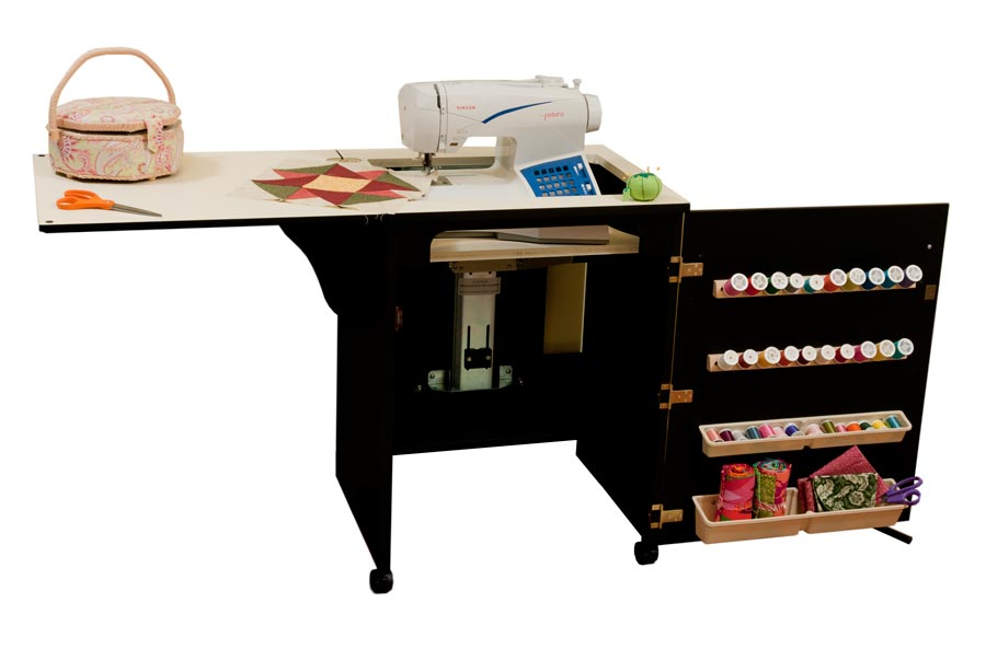 Arrow 98503 Sewnatra Compact Sewing Cabinet - black finish