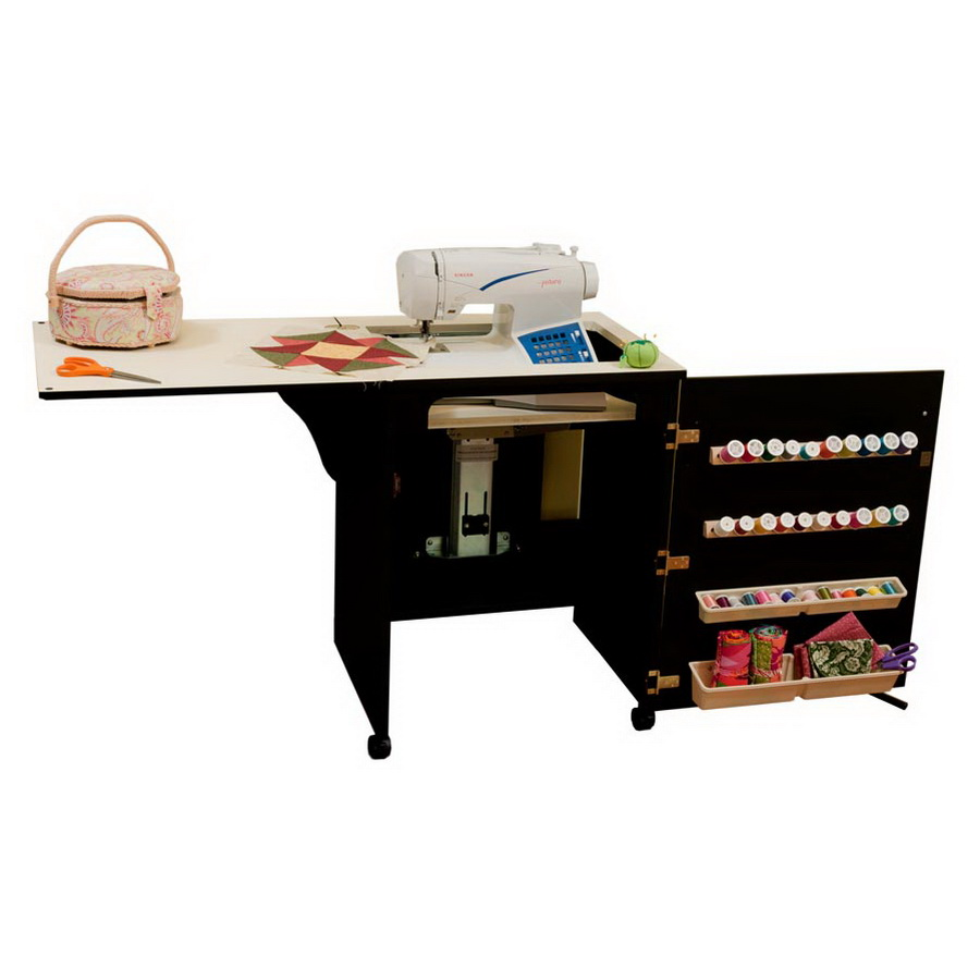 Arrow 98503 Sewnatra Compact Sewing Cabinet - black finish