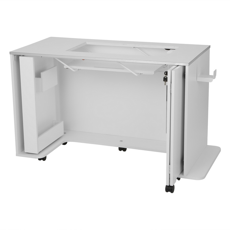 Arrow Chrome Cabinet with Manual Lift