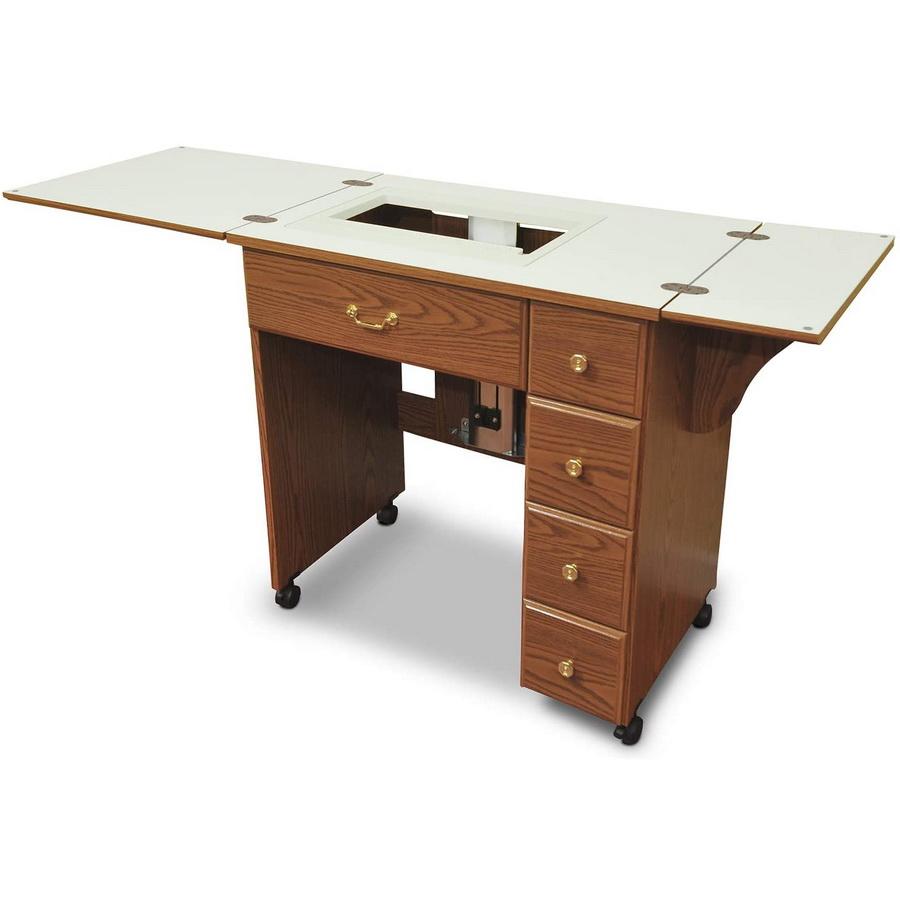 Arrow Auntie Retro-look Sewing Cabinet - Oak Finish