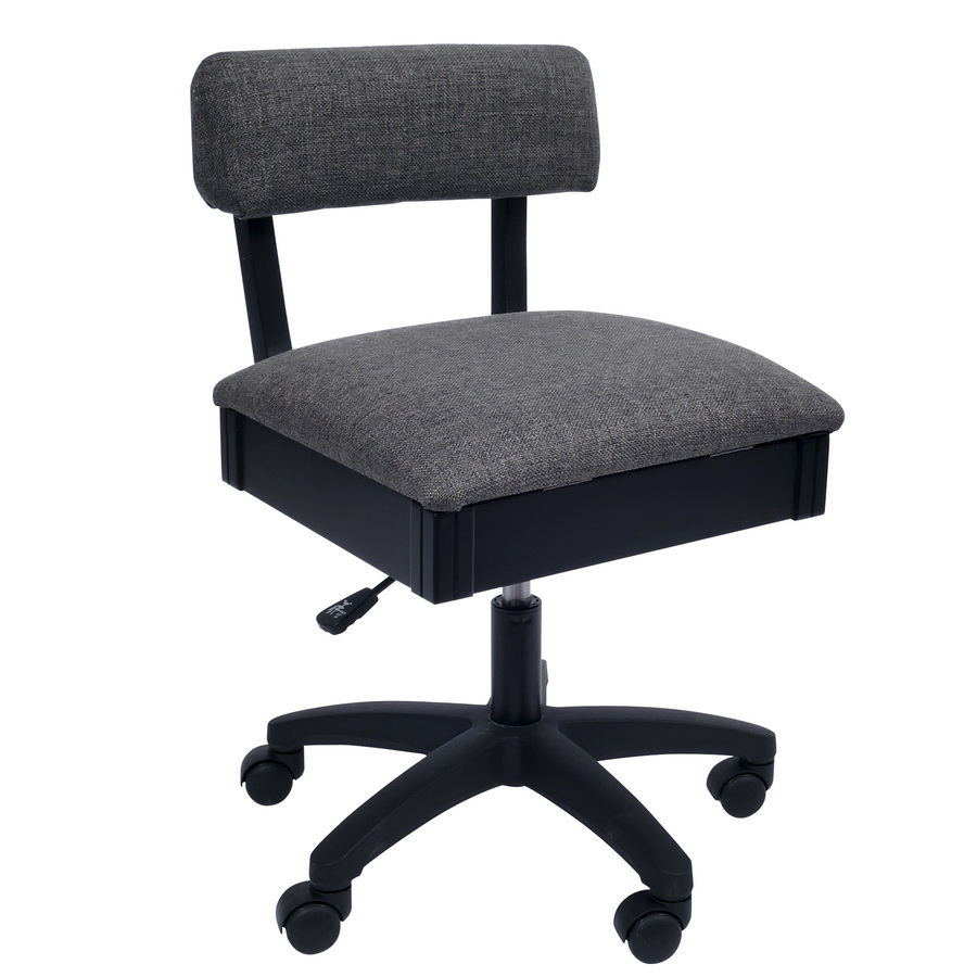 Arrow Adjustable Height Hydraulic Sewing and Craft Chair - Lady Gray