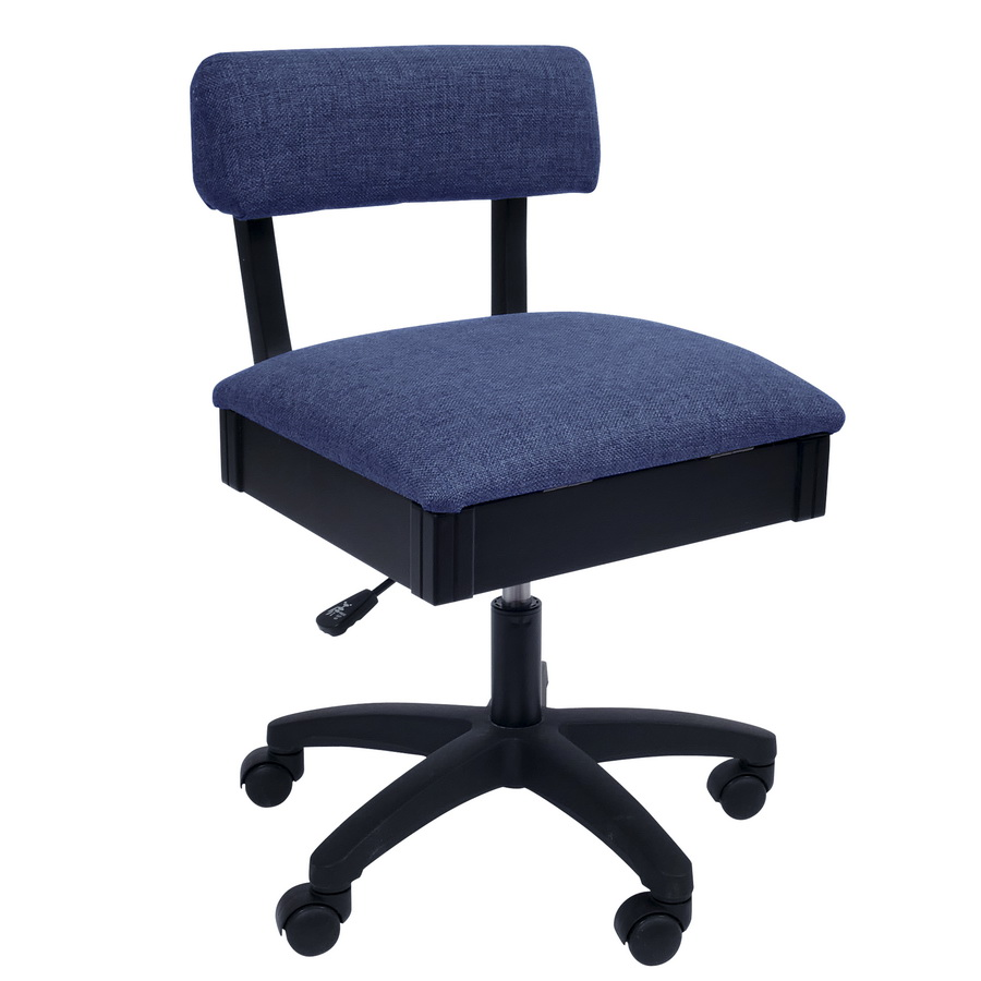 H8130 Arrow Adjustable Height Hydraulic Sewing and Craft Chair - Duchess Blue