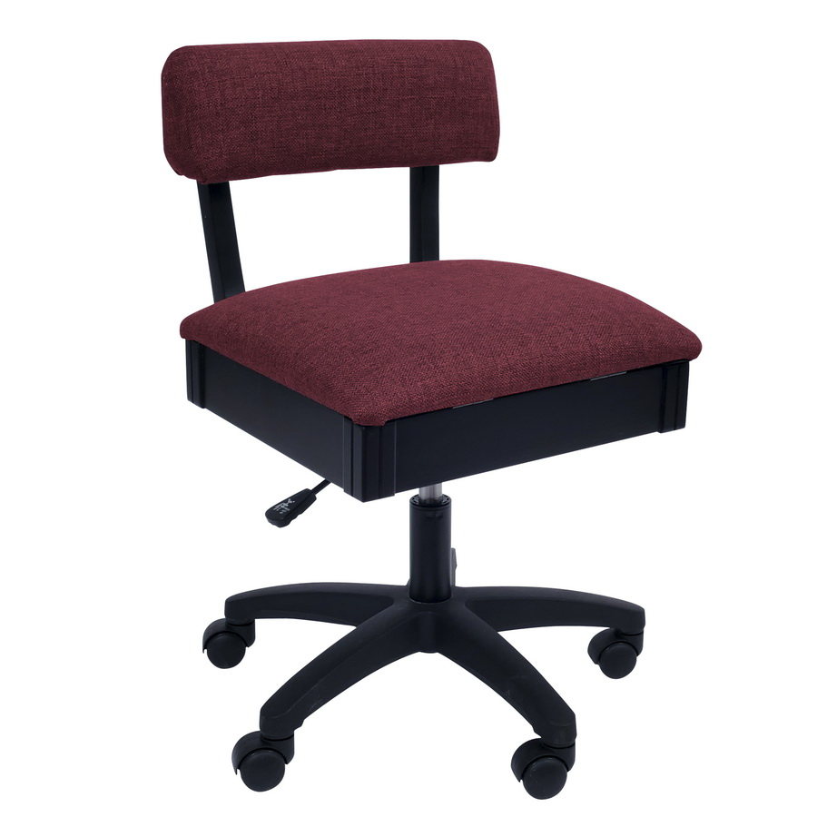Arrow Adjustable Height Hydraulic Sewing and Craft Chair - Crown Ruby