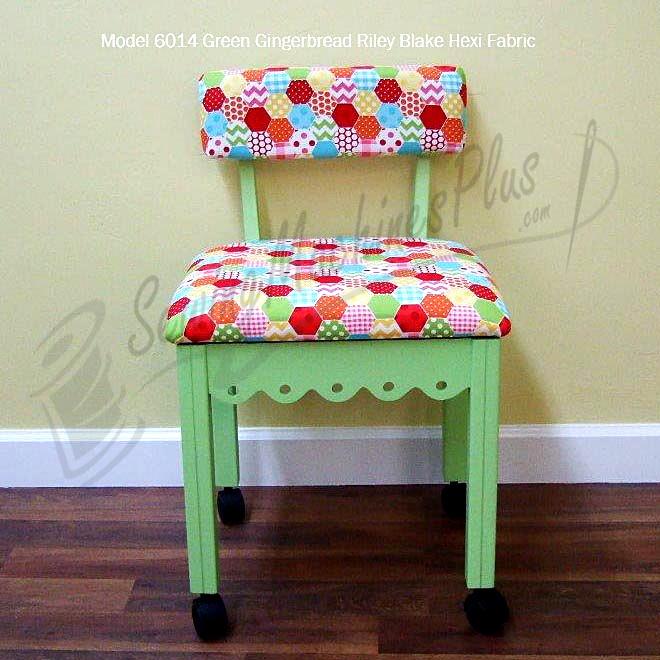 Arrow 6014 Riley Blake Hexi Motif Fabric Sewing Chair - Green