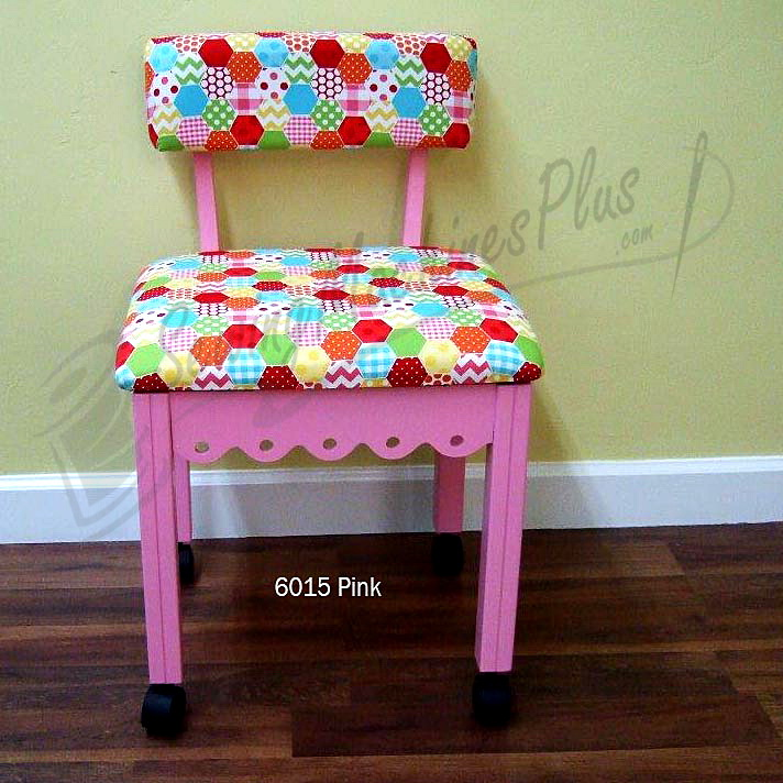 Arrow 6015 Riley Blake Hexi Motif Fabric Sewing Chair - Pink