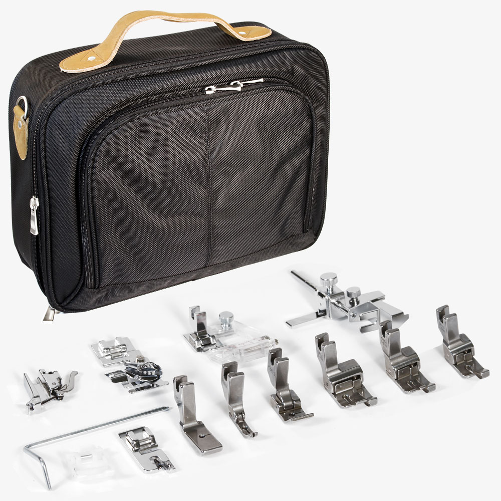 High Shank Quilter Professional 13 Piece Foot Kit & Tote Bag Organizer