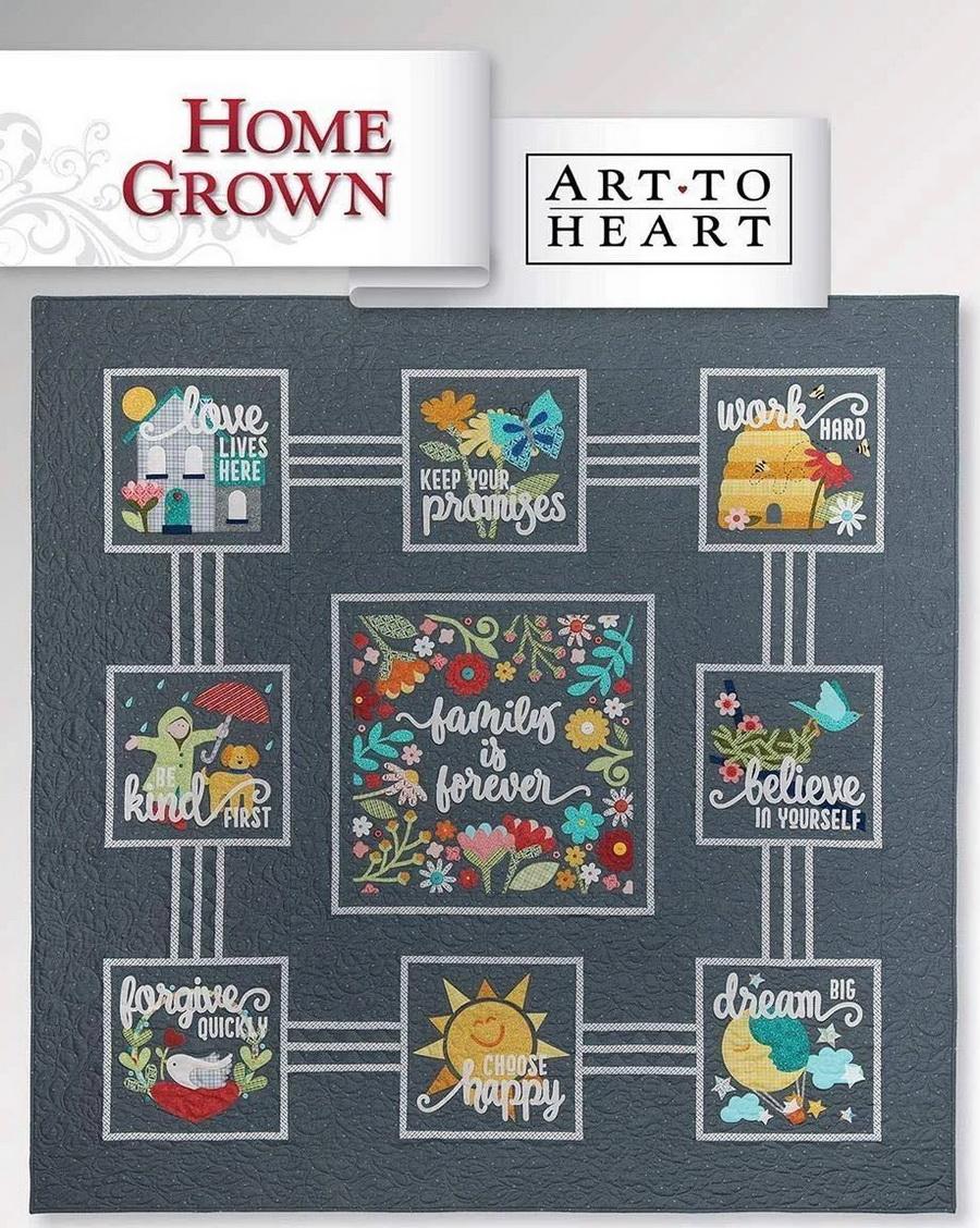 Art to Heart - Home Grown Booklet by Nancy Halvorsen