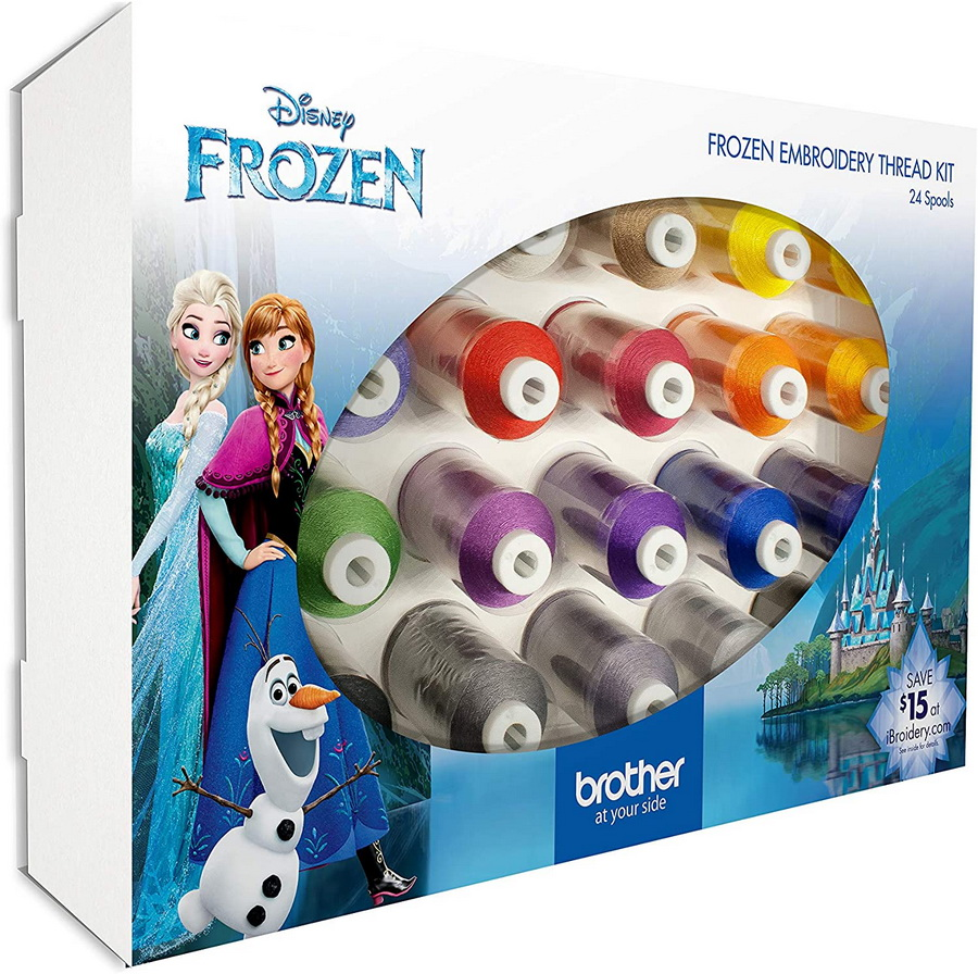 Brother Frozen Embroidery Thread Kit - ETPFROZ124