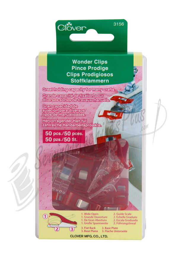 Wonder Clips 50 Piece box - by Clover CL3156