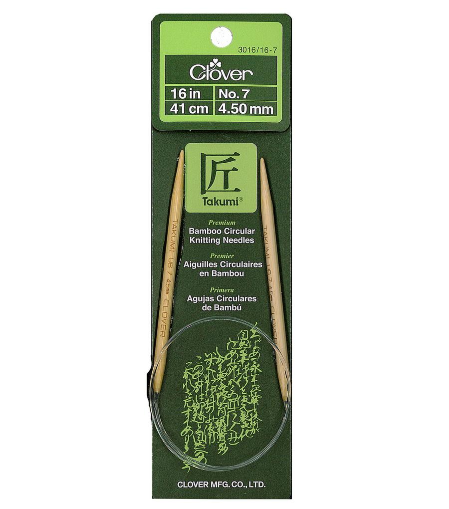 Clover Takumi Circular 16 Inch Bamboo Knitting Needle