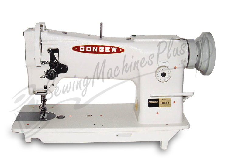 Consew 206RB-5 Walking Foot Upholstery Machine w/ Table & Motor