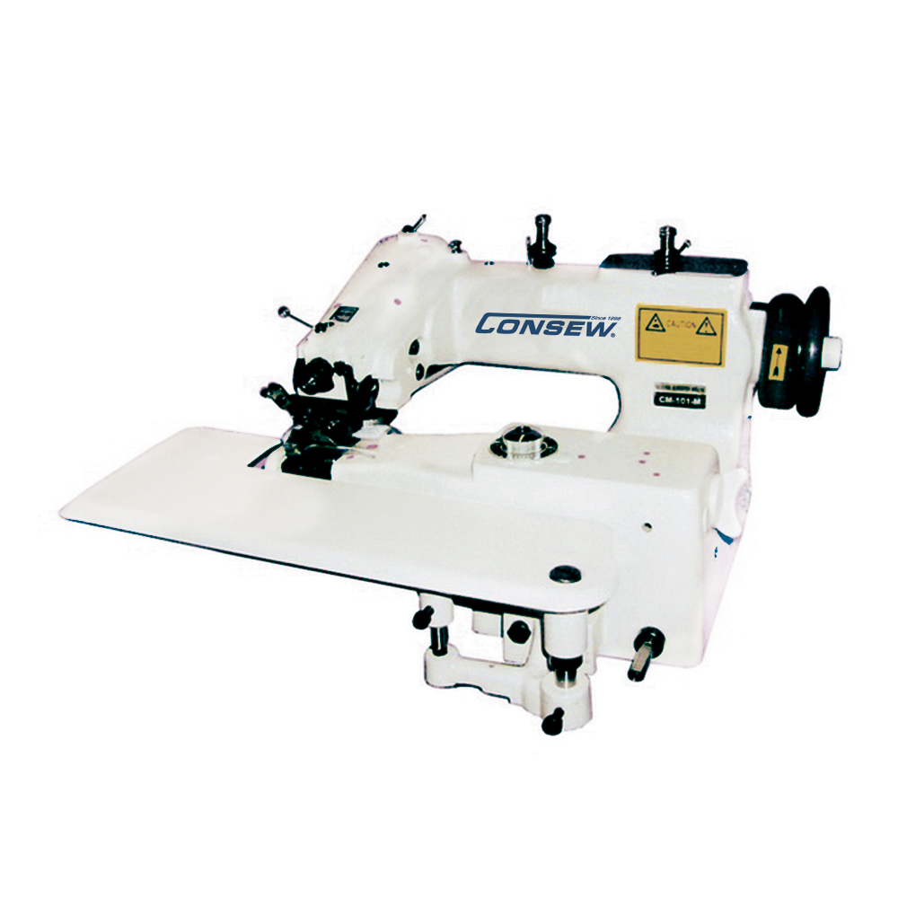 Consew CM101 Single Thread, Chainstitch, Blindstitch Machine with Assembled Table and Servo Motor