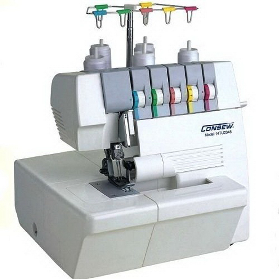 Consew 14TU2345 Portable Coverlock 2/3/4/5 Thread Machine