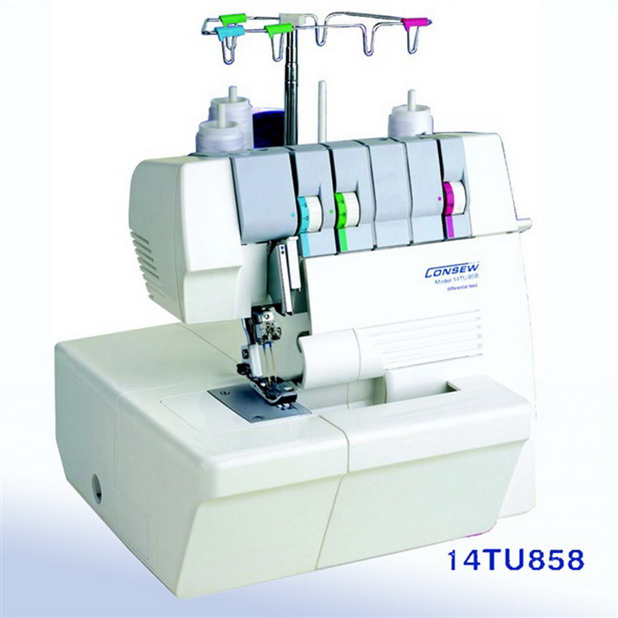 Consew 14TU858 Portable Coverstitch Machine 2 Needle, 2/3 Thread