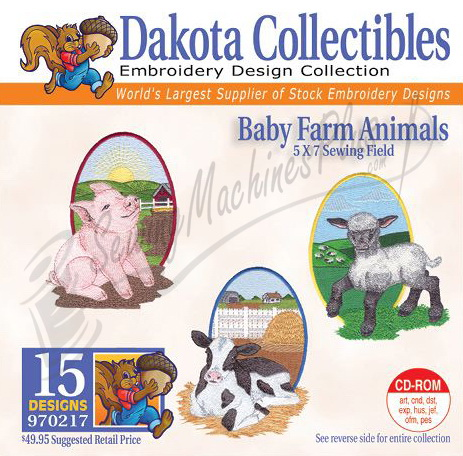 Dakota Collectibles Baby Farm Animals  Embroidery Designs - 970217