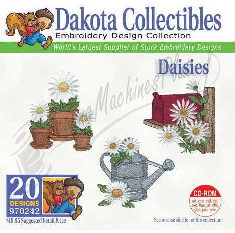 Dakota Collectibles Daisies Embroidery Designs - 970242
