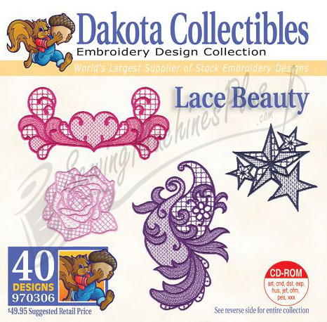 Dakota Collectibles Lace Beauty Embroidery Designs - 970306