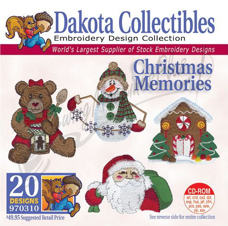 Dakota Collectibles Christmas Memories Embroidery Designs - 970310