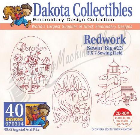 Dakota Collectibles Redwork Embroidery Designs - 970314