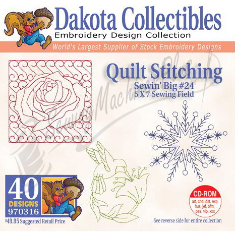 Dakota Collectibles Quilt Stitching #24 Embroidery Designs 970316