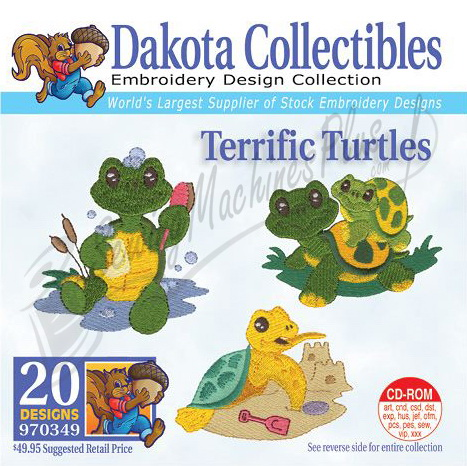Dakota Collectibles Terrific Turtles Embroidery Designs - 970349