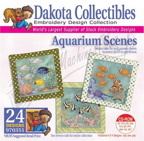 Dakota Collectibles Aquarium Scenes  Embroidery Designs - 970351