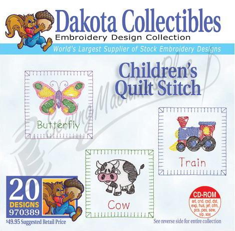 Dakota Collectibles Childrens Quilt Stitch Embroidery Designs - 970389