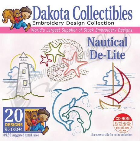 Dakota Collectibles Nautical De-Lite  Embroidery Designs - 970394