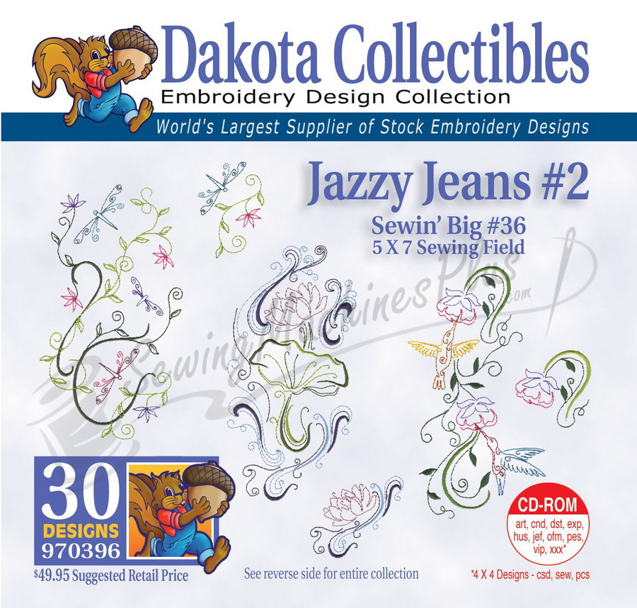 Dakota Collectibles Jazzy Jeans #2 Embroidery Designs - 970396