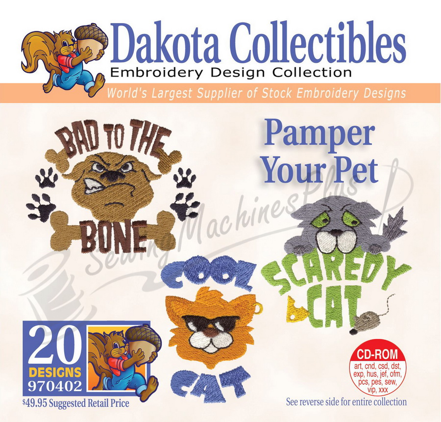 Dakota Collectibles Pamper Your Pet Embroidery Designs - 970402