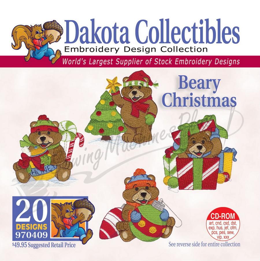 Dakota Collectibles Beary Christmas Embroidery Designs - 970409