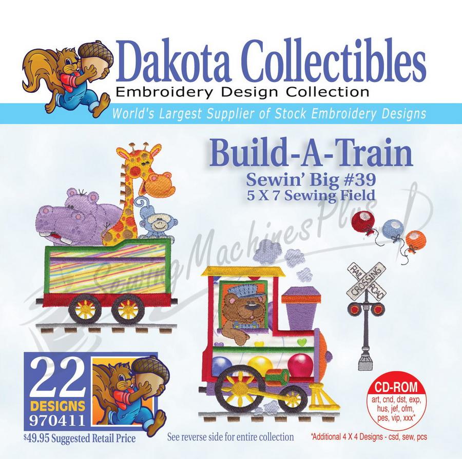 Dakota Collectibles Build A Train Embroidery Designs - 970411