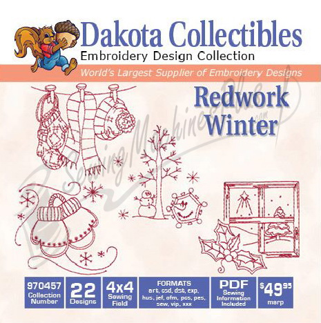 Dakota Collectibles Redwork Winter 970457