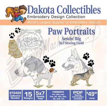 Dakota Collectibles Paw Potraits 970469