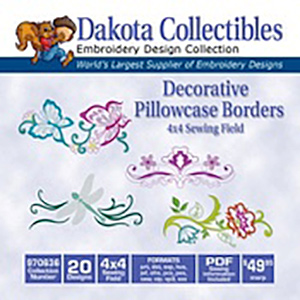 Dakota Collectibles Decorative Pillowcase Borders (970636)
