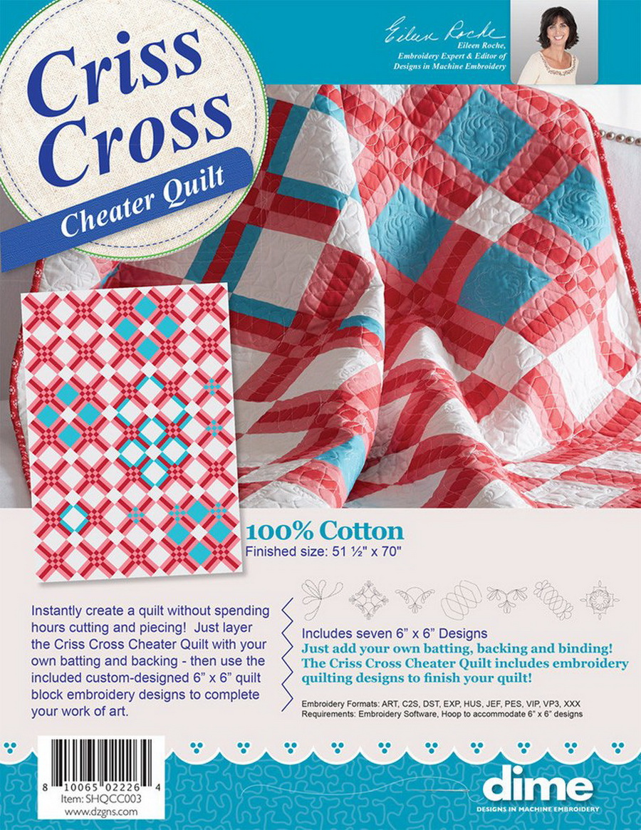 DIME - Criss Cross Cheater Quilt