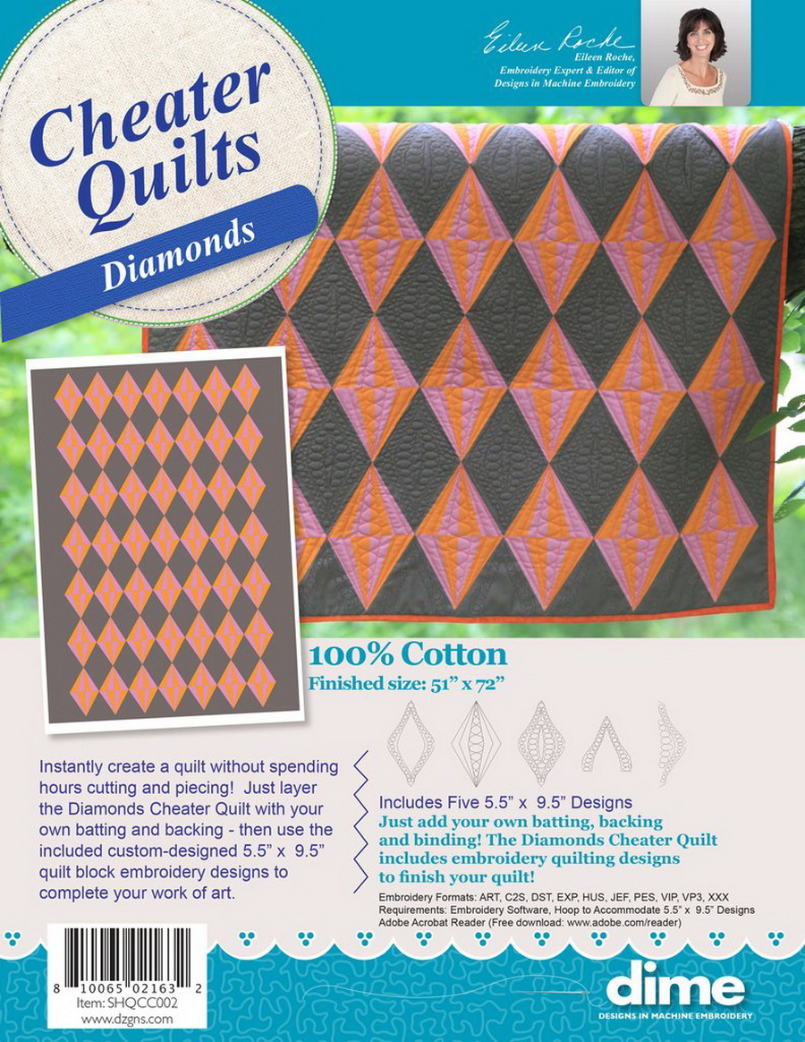 DIME - Diamonds Cheater Quilt with Designs