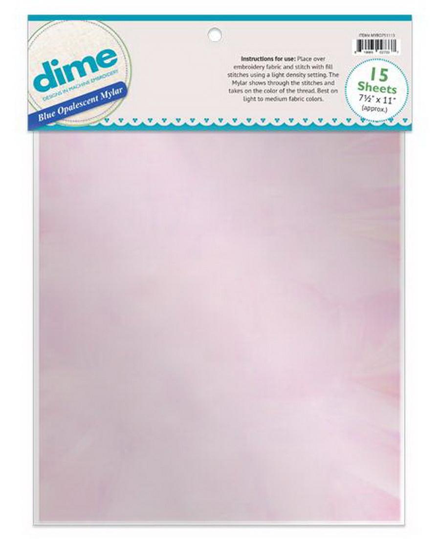 Dime Blue Opalescent Mylar 7.5 in. x 11 in. - 15 Sheet Pack