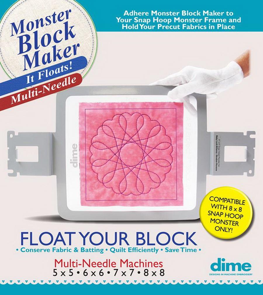 Dime Monster Block Maker - Multi-Needle Compatibility