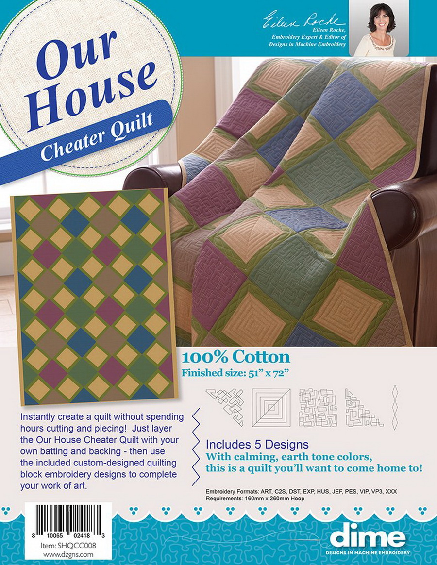Dime Our House Cheater Quilt with Designs (SHQCC008)