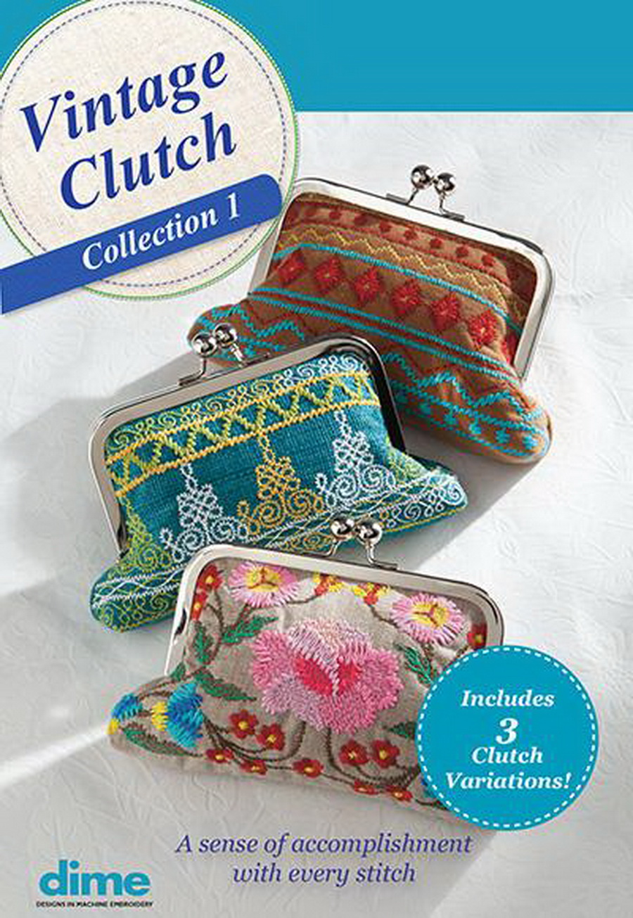 Dime Vintage Purse Embroidery Design Collection (Optional thread and needle bundle)