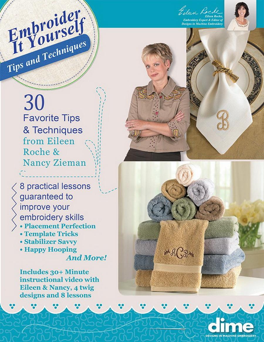 DIME - Embroider It Yourself: Eileen Roche & Nancy Ziemans Tips & Techniques