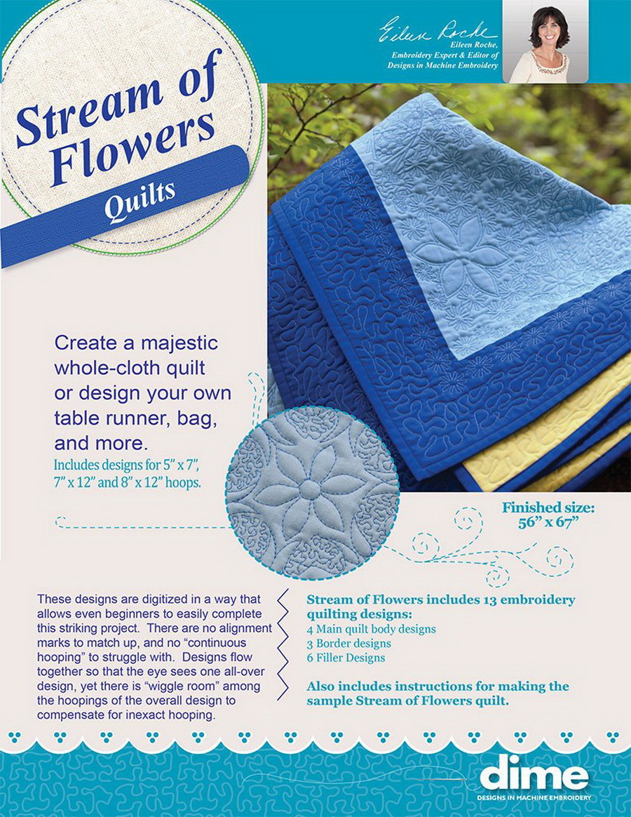 DIME - shortE Stream of Flowers Quilts